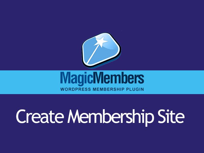 create membership site